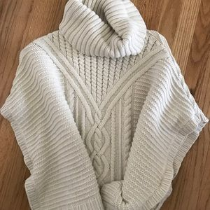 Girls cream cable knit sweater